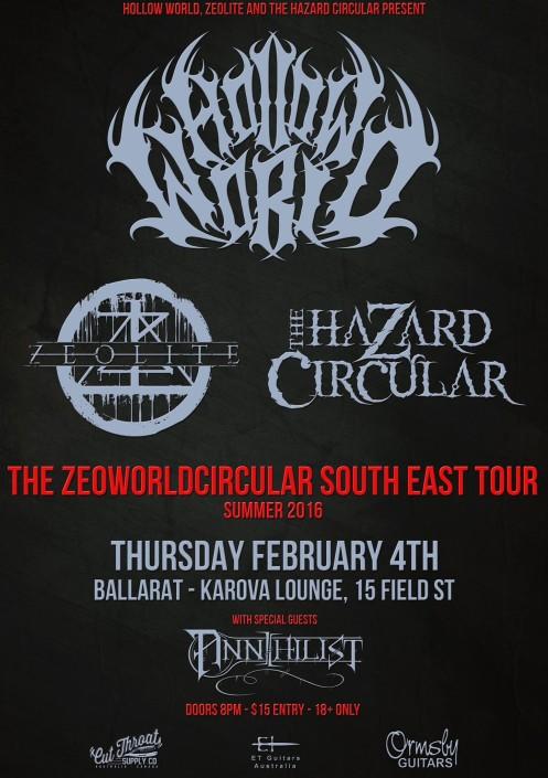 Annihilist - Zeoworldcircular Metal Tour Ballarat