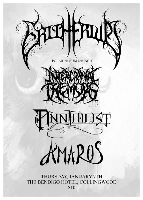Erithrium 'Polar' Album Launch Metal Show Melbourne Australia