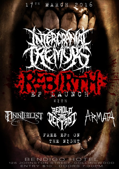 Intercranial Tremors Technical Death Metal EP Launch