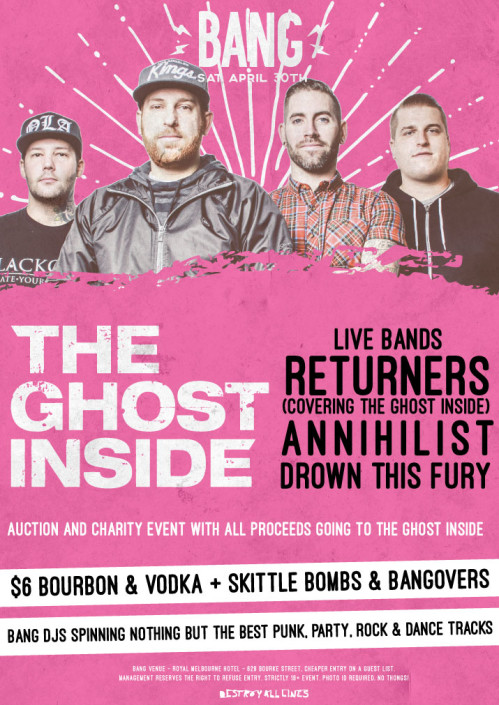 Annihilist - BANG! The Ghost Inside Charity Event - Live Bands: Returners, Annihilist, Drown This Fury