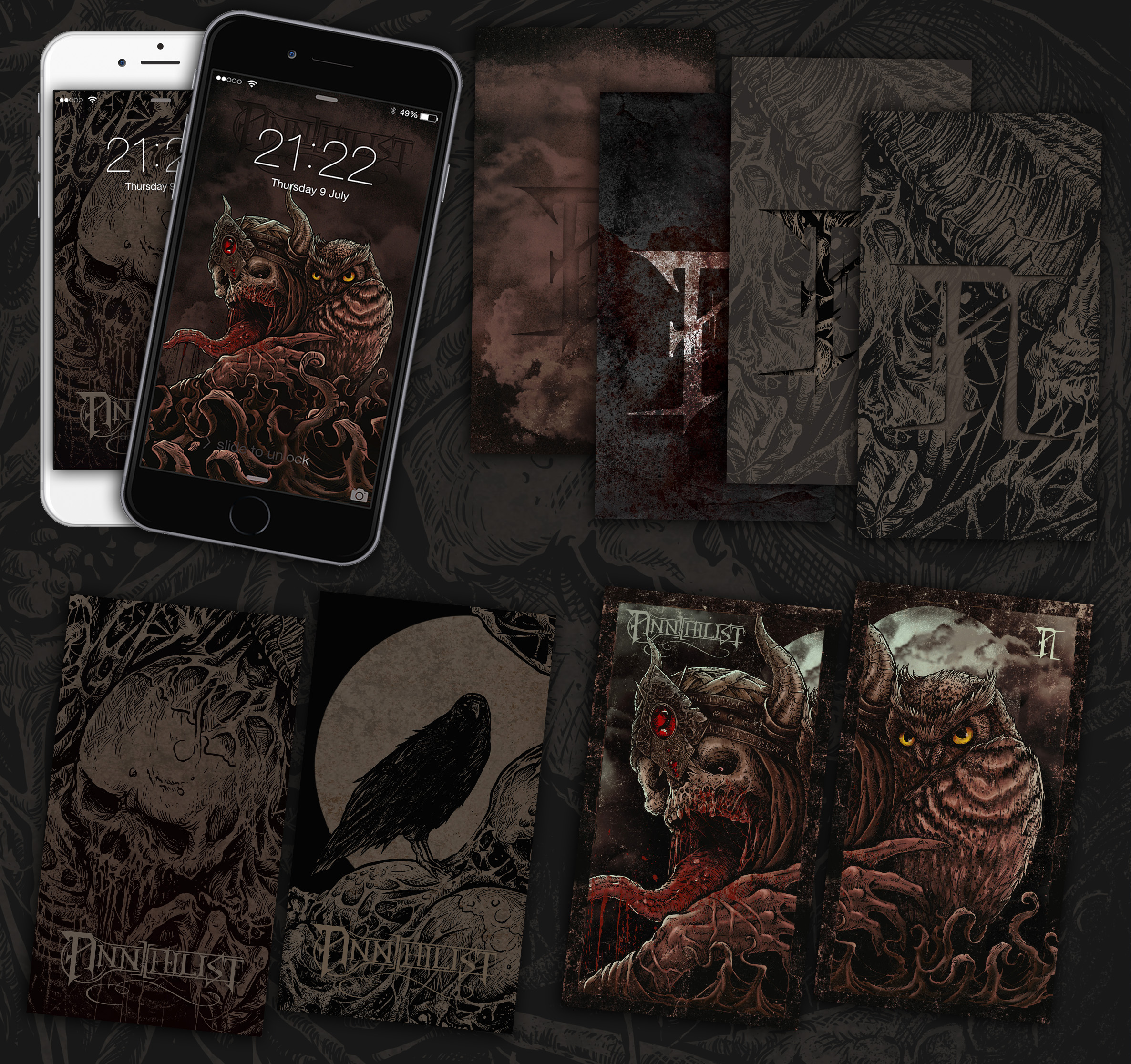 Annihilist Custom IPhone And Android Wallpapers Available For Free Download