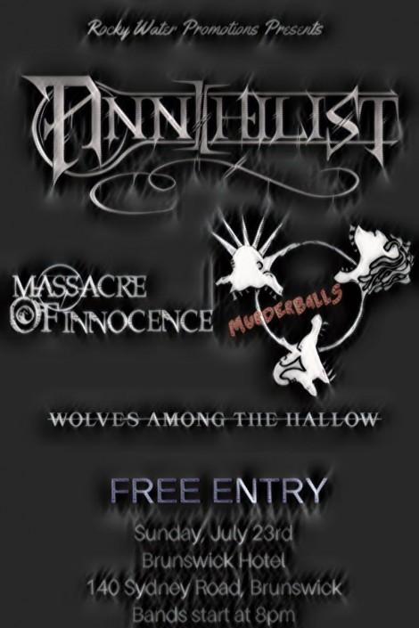 Annihilist Free Show Melbourne Metal Gig Brunswick hotel