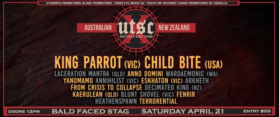 UTSC 10 Metalfest Sydney (18+) w/ King Parrot & Child Bite
