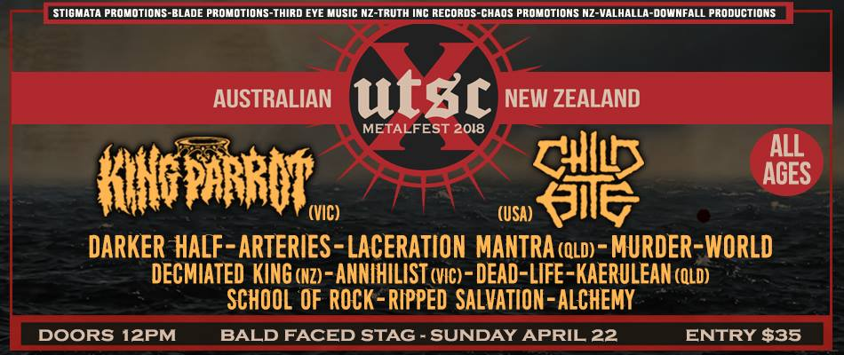UTSC 10 Metalfest Sydney (All Ages)